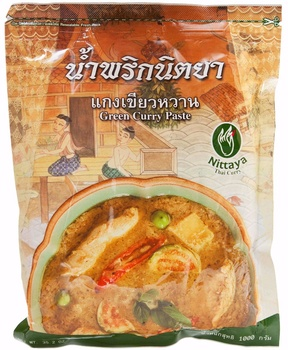 Nittaya Green Curry 10*1kg